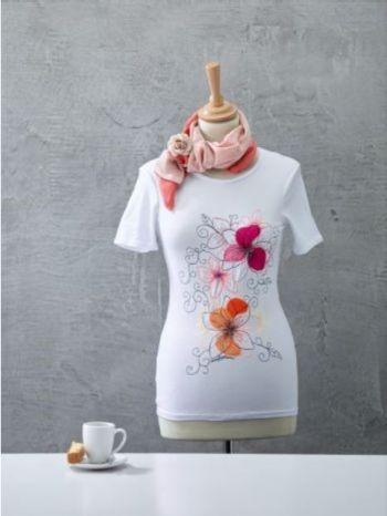 T-Shirt  borduren/meanderen
